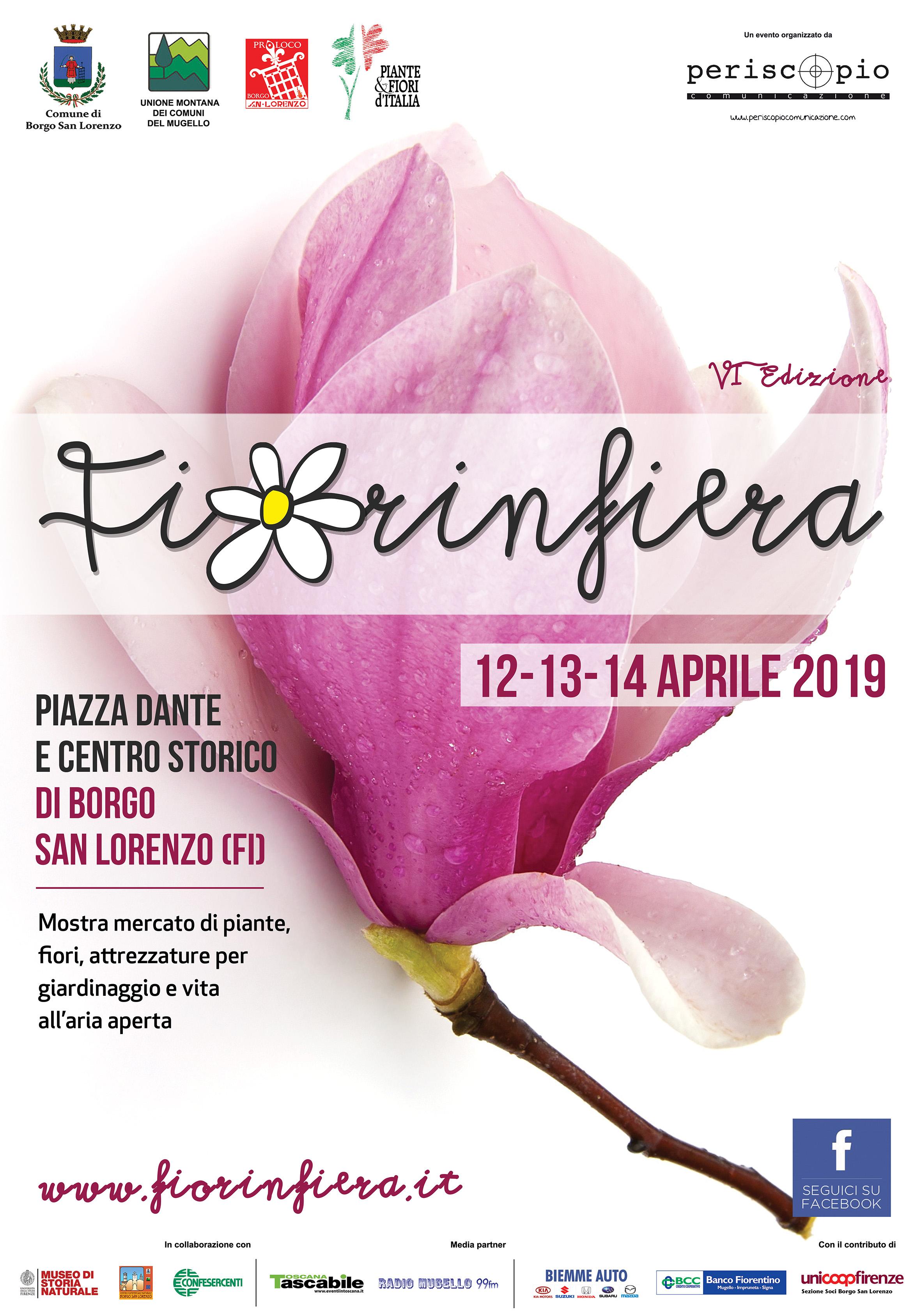 """La Primavera fiorisce a Borgo San Lorenzo con """"Fiorinfiera"""" 2019"""